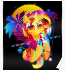 Synthwave Sunset Shimmer Poster