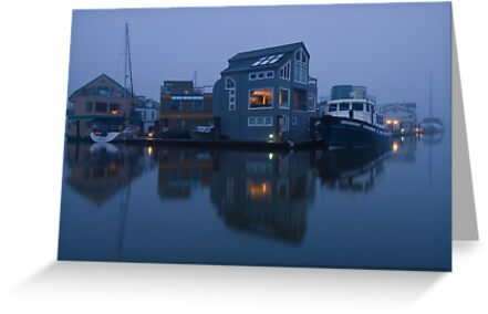 Floathome Community at Canoe Pass by David Friederich