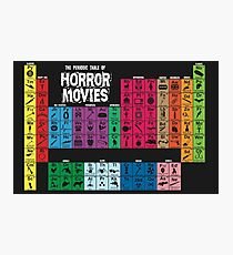 Periodic Table of Horror Movies Photographic Print
