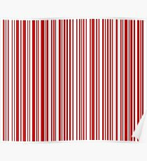Barcode Quooki Barcode Red Poster