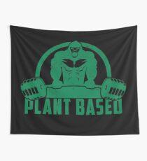 Plant Based Vegan Gorilla - Funny Workout Quote Gift Wandbehang