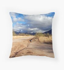Dirt Road Throw Pillow