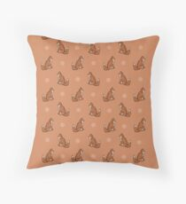 Mrs Vixen Print Throw Pillow