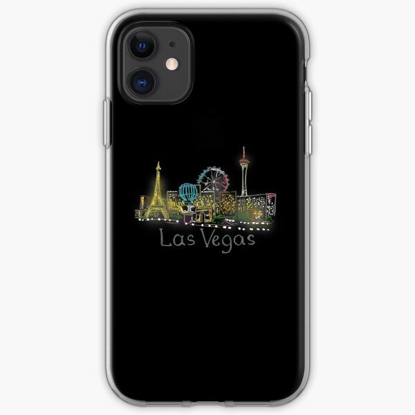 Las Vegas Panorama at night iPhone Soft Case