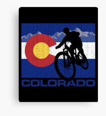 Colorado Mountain Biking Gifts For Mountain Bikers Canvas Print