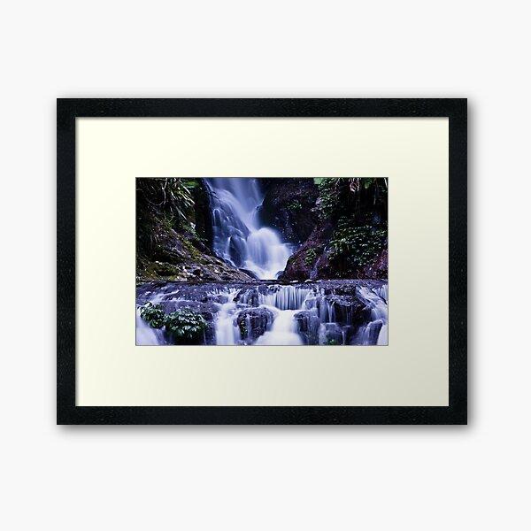 Elebana Falls Green Mountain Framed Art Print