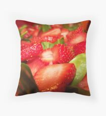 Strawberry Spinach Salad Throw Pillow