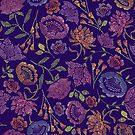 Passion Flowers {Indigo} by Cecilia Mok