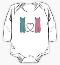 Cat Love One Piece - Long Sleeve