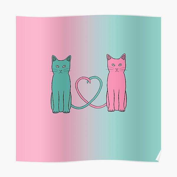 Cat Love Poster