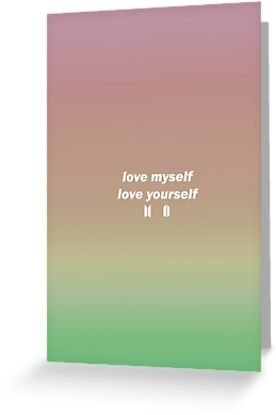 BTS LOVE MYSELF LOVE YOURSELF QUOTE By AGMDesigns