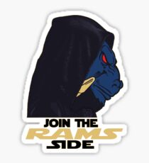Join The Rams Side Sticker