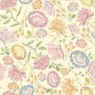 Passion Flowers {Cream} by Cecilia Mok