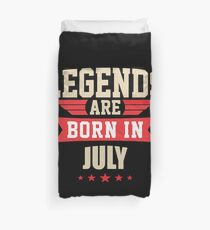 Legend Are Born In July Merchandise Duvet Cover