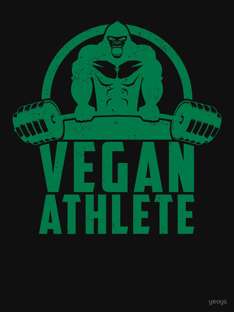 Vegan Athlete Muscle Gorilla - Funny Workout Quote Gift by yeoys