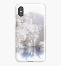 Winter Alpine Lake Scene iPhone Case/Skin