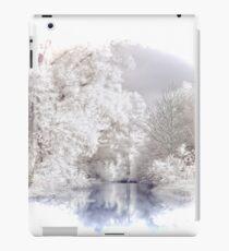 Winter Alpine Seeszene iPad-Hülle & Klebefolie