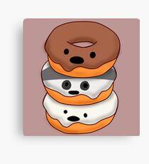 Bears Donuts Canvas Print