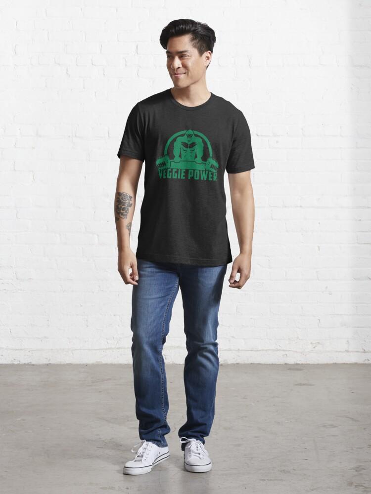 Alternative Ansicht von Veggie Power Vegan Muscle Gorilla - Funny Workout Quote Gift Essential T-Shirt