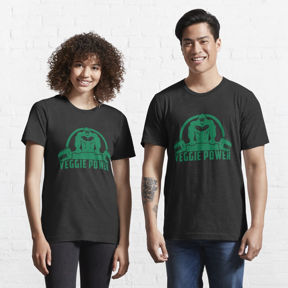 Veggie Power Vegan Muscle Gorilla - Funny Workout Quote Gift Essential T-Shirt