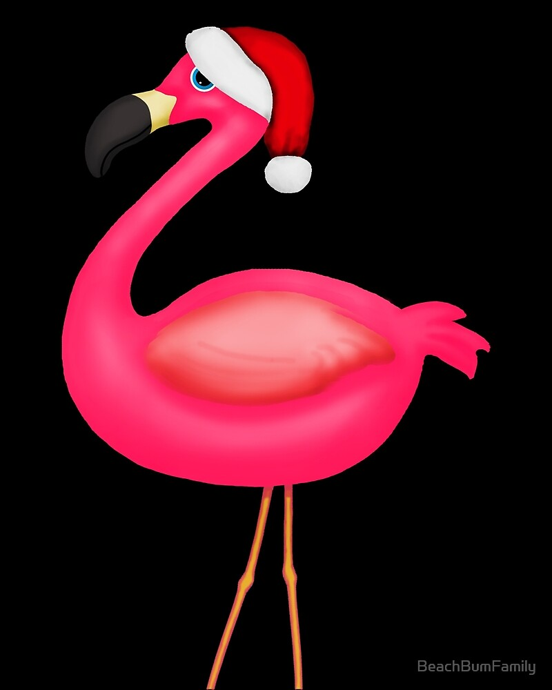Pink Flamingo Christmas by BeachBumFamily