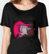 Fender Stratocaster in Pink Women's Relaxed Fit T-Shirt