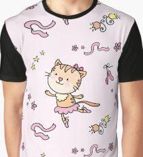 cat ballet dancer seamless pattern background Graphic T-Shirt