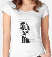 Robot Mugshot Women's Fitted Scoop T-Shirt