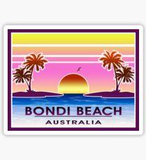 Weinlese-Gepäck Bondi-Strand-Australiens Sydney Sticker
