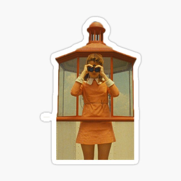 suzy bishop, moonrise kingdom - binoculars Sticker
