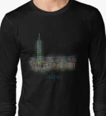 Taipei City Panorama at night Long Sleeve T-Shirt