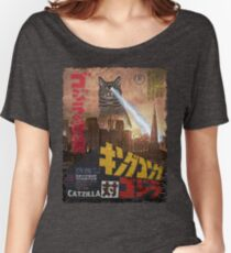 Catzilla Movie Poster Women's Relaxed Fit T-Shirt