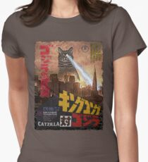 Catzilla Movie Poster Women's Fitted T-Shirt