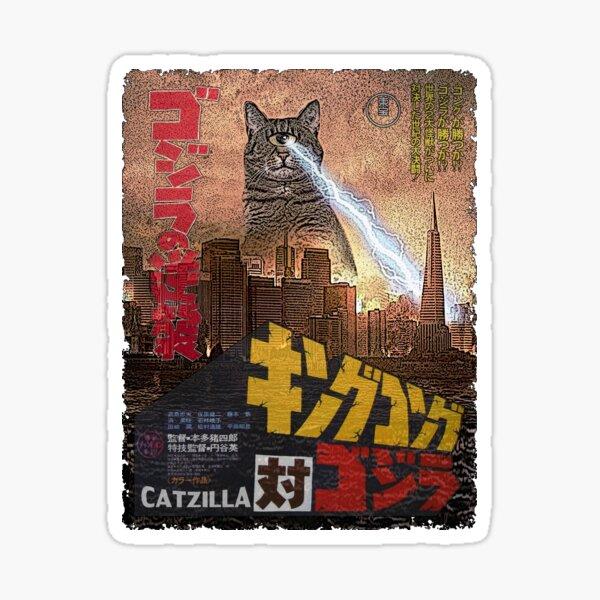 Catzilla Movie Poster Sticker