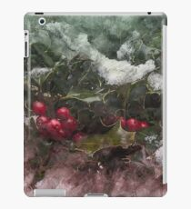 Christmas Holly Sketch iPad Case/Skin