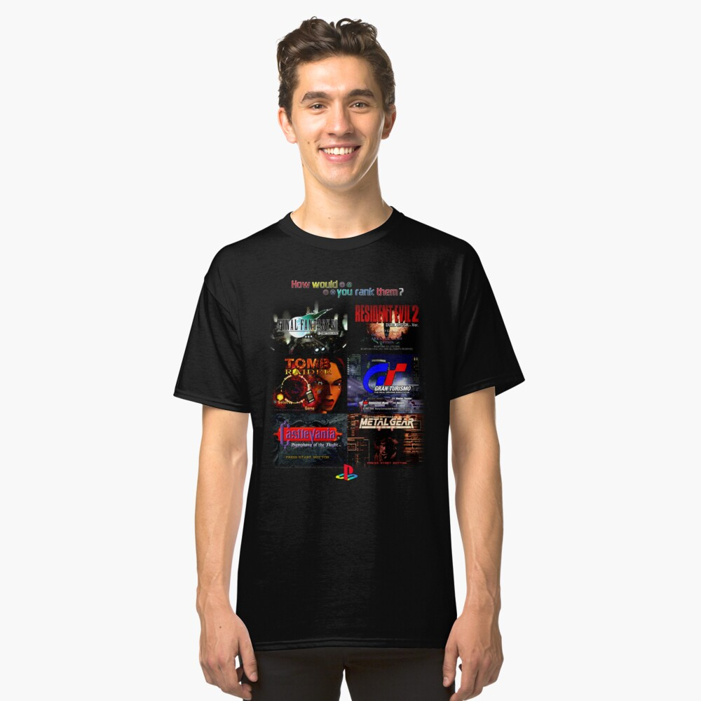 How would you rank them. Playstation Classic T-Shirt Front