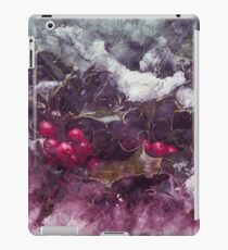 Christmas Holly Sketch 2 iPad Case/Skin
