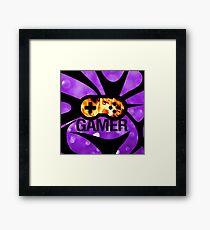 Purple Flame Gamer  Framed Print