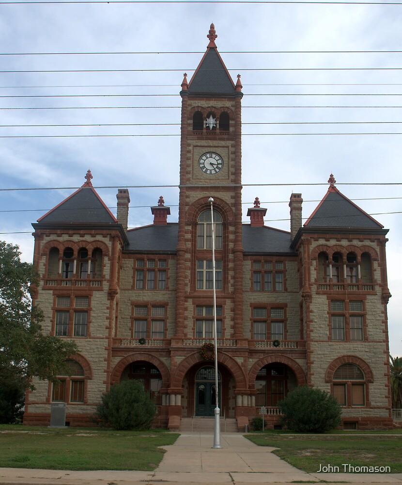 Dewitt Co Courthouse, Cuero, Tx. 1897 by John Thomason