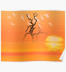 Flying to roost Poster