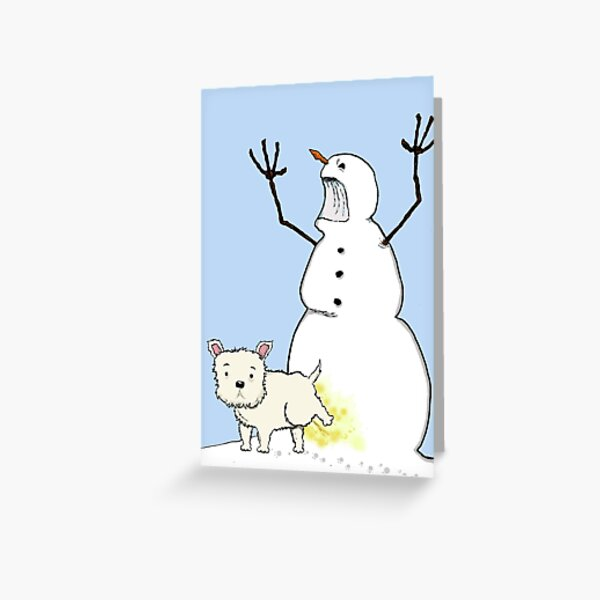 Yellow Snow Greeting Card