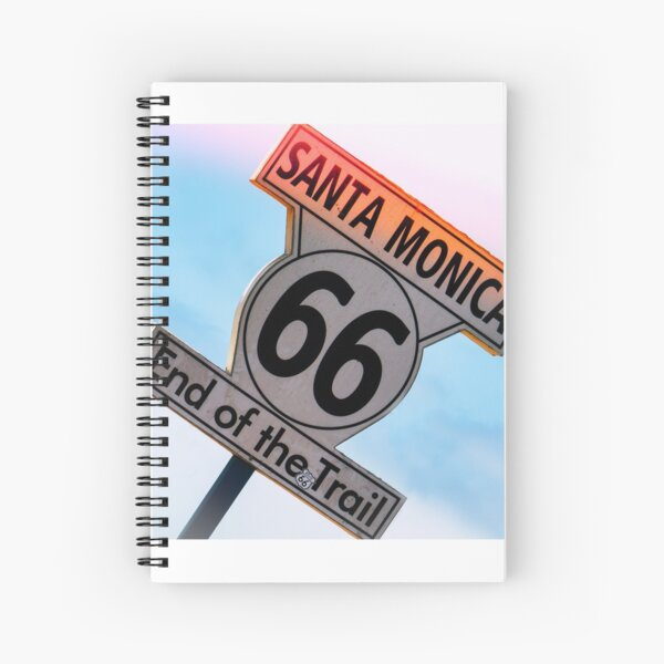 End of Route 66 by Mike-Hope Spiral Notebook