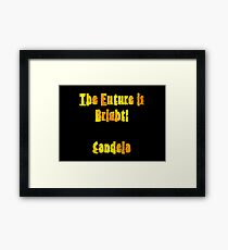 The future is bright! Candela Framed Print