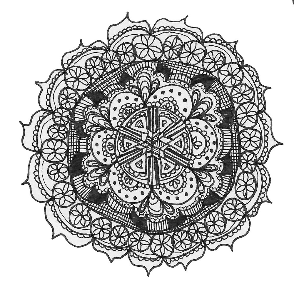 Mandala Cool Drawing Adult Coloring Book Tumblr Design