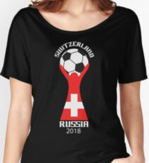 Switzerland National Soccer Team Victory In 2018 Cup Soccer In Russia Women's Relaxed Fit T-Shirt