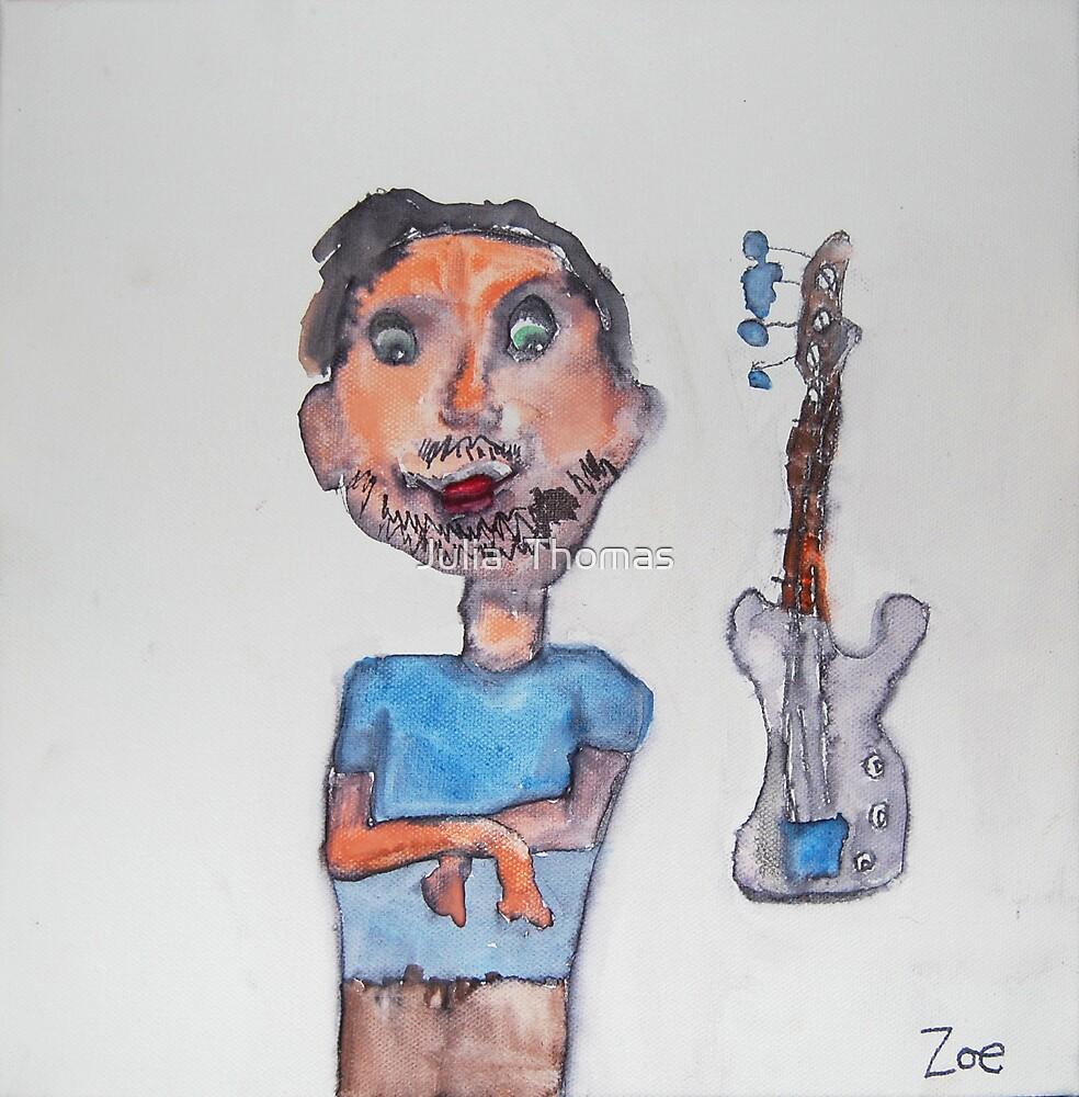 Dad Likes To Play Guitar by Zoe Thomas age 7 by Julia  Thomas