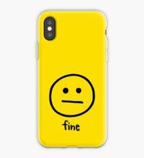 Fine by Rachel Kear iPhone Case