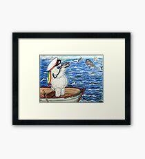 Pooky Saving the Whales Framed Print