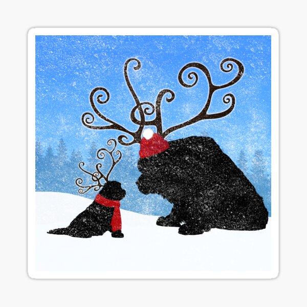 Reindeer Newfies Sticker