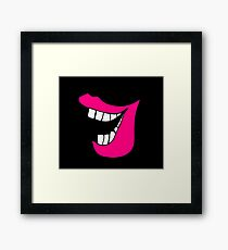 Funny lips. Cartoon Framed Print